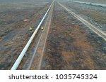 inspection of water pipeline in ... | Shutterstock . vector #1035745324