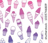 delicious and sweet ice cream... | Shutterstock .eps vector #1035746809
