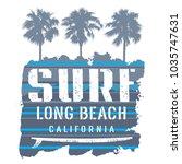 surfing artwork. long beach... | Shutterstock .eps vector #1035747631