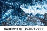 foam waves blue ocean   Shutterstock . vector #1035750994