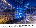 chicago downtown train light...   Shutterstock . vector #1035752815