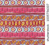 beautiful tribal striped...   Shutterstock .eps vector #1035756337