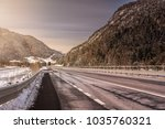 mountain valley in the austrian ... | Shutterstock . vector #1035760321
