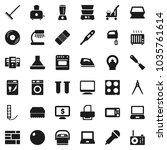 flat vector icon set   cleaner... | Shutterstock .eps vector #1035761614