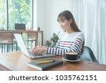 beautiful young asian woman... | Shutterstock . vector #1035762151