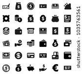 flat vector icon set   dollar...   Shutterstock .eps vector #1035763561