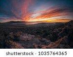 beautiful red orange yellow... | Shutterstock . vector #1035764365