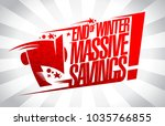 end of winter massive savings ... | Shutterstock .eps vector #1035766855