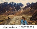 mountains view hiking  | Shutterstock . vector #1035772651