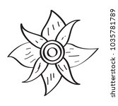 drawing of a flower | Shutterstock .eps vector #1035781789