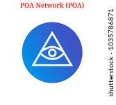 vector poa network  poa ... | Shutterstock .eps vector #1035786871