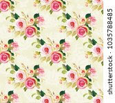 seamless floral pattern with... | Shutterstock .eps vector #1035788485