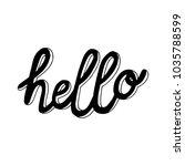 hand sketched lettering... | Shutterstock .eps vector #1035788599