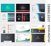 business card design | Shutterstock .eps vector #1035788881