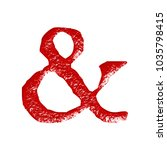 Rustic Red Metallic Ampersand...