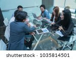 asia business group meeing... | Shutterstock . vector #1035814501