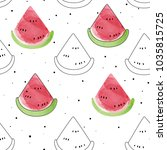 vector seamless pattern with... | Shutterstock .eps vector #1035815725