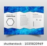 tri fold brochures  square... | Shutterstock .eps vector #1035820969