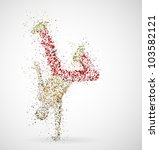 abstract image of a dancing... | Shutterstock .eps vector #103582121