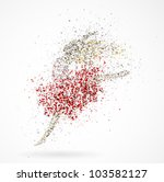 abstract image of a dancing...   Shutterstock .eps vector #103582127