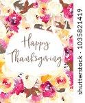 happy thanksgiving printable... | Shutterstock . vector #1035821419