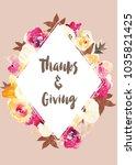 thanksgiving card background... | Shutterstock . vector #1035821425