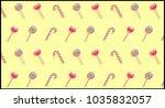 sweet pop art background with... | Shutterstock .eps vector #1035832057