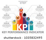 infographic kpi concept with... | Shutterstock .eps vector #1035832495