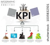 infographic kpi concept with... | Shutterstock .eps vector #1035832501