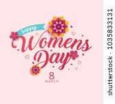 happy womens day vector... | Shutterstock .eps vector #1035833131