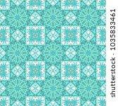 turquoise seamless vector... | Shutterstock .eps vector #1035833461