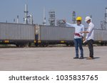 two engineering check product...   Shutterstock . vector #1035835765