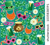 vector texture for st. patrick... | Shutterstock .eps vector #1035838591