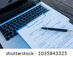 contract for the sale of a new... | Shutterstock . vector #1035843325