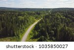 aerial view of white car... | Shutterstock . vector #1035850027