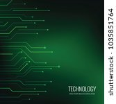 technology vector backgrounds | Shutterstock .eps vector #1035851764