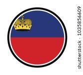 liechtenstein   glossy button... | Shutterstock .eps vector #1035856609