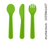 vector illustration of plastic... | Shutterstock .eps vector #1035861637