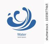 water wave logo abstract design.... | Shutterstock .eps vector #1035877465
