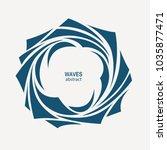 water wave logo abstract design.... | Shutterstock .eps vector #1035877471