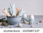 easter spring decorative...   Shutterstock . vector #1035887137
