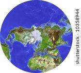 Globe  Centered On Northern...