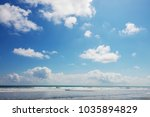 beautiful tropical pacific... | Shutterstock . vector #1035894829