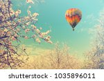 blooming spring orchard.... | Shutterstock . vector #1035896011