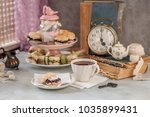english afternoon tea with... | Shutterstock . vector #1035899431