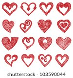 vector hearts set | Shutterstock .eps vector #103590044