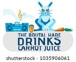 image of a blue hare. the... | Shutterstock .eps vector #1035906061