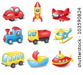 cartoon transport | Shutterstock .eps vector #103590824