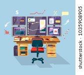 vector cartoon trader ...   Shutterstock .eps vector #1035908905