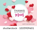happy mother's day greetings... | Shutterstock .eps vector #1035909601
